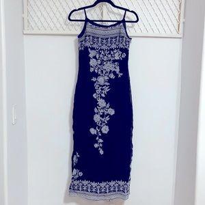 TRISTAN & ISEUT Longline Double Slit Halter Dress